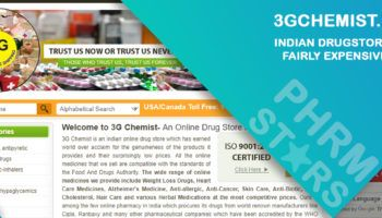 3gchemist.com Review – Indian Drugstore withFairly Expensive Pills