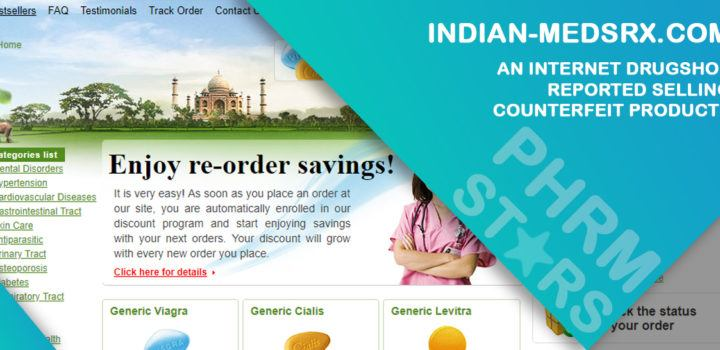 Indian-medsrx.com Review - An Internet Drugshop Reported Selling Counterfeit Products