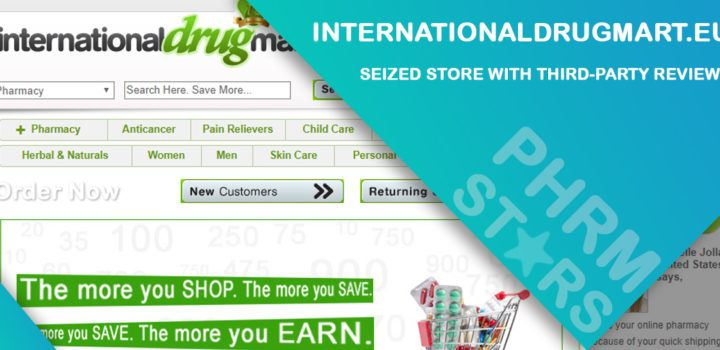 Internationaldrugmart.eu Review – Seized Store with Third-Party Reviews