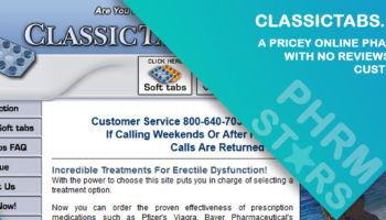 Classictabs.com Review - A Pricey Online Pharmacy with no Reviews from Customers