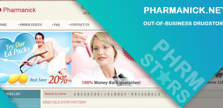 Pharmanick.net Review - Out-of-Business Drugstore